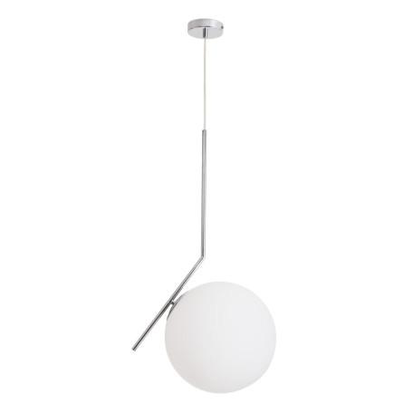 Подвесной светильник Arte Lamp Bolla-Unica A1922SP-1CC, 1xE27x40W, хром, белый, металл, стекло