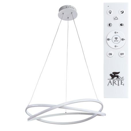 Подвесной светодиодный светильник с пультом ДУ Arte Lamp Swing A2522SP-2WH, LED 162W 3000-6000K 9100lm CRI≥80, белый, металл, металл с пластиком