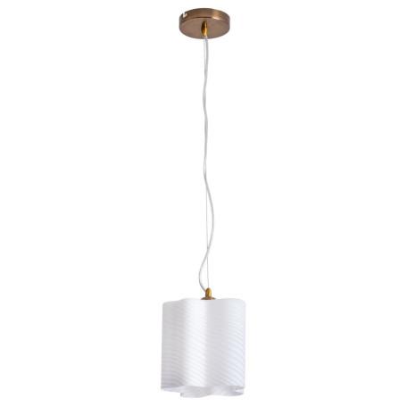 Подвесной светильник Arte Lamp Serenata A3459SP-1AB, 1xE27x40W, бронза, белый, металл, стекло
