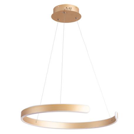 Подвесной светодиодный светильник Arte Lamp Helios A4050SP-1SG, LED 55W 4000K 1570lm CRI≥80, матовое золото, металл, металл с пластиком