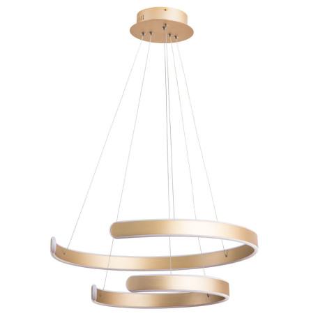 Подвесной светодиодный светильник Arte Lamp Helios A4050SP-2SG, LED 92W 4000K 2680lm CRI≥80, матовое золото, металл, металл со стеклом/пластиком