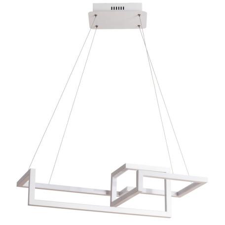 Подвесной светодиодный светильник Arte Lamp Mercure A6011SP-3WH, LED 76W 4000K 4030lm CRI≥80, белый, металл, металл с пластиком
