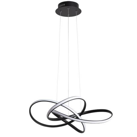 Подвесной светодиодный светильник Arte Lamp Swing A7040SP-4BK, LED 60W 4000K 2230lm CRI≥80, черный, металл, металл с пластиком