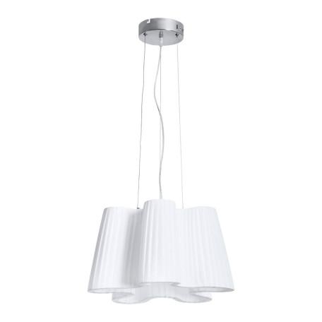 Подвесной светильник Arte Lamp Signora A7897SP-2CC, 1xE27x40W + LED 20W 3000K 1500lm CRI≥80, хром, белый, металл, текстиль