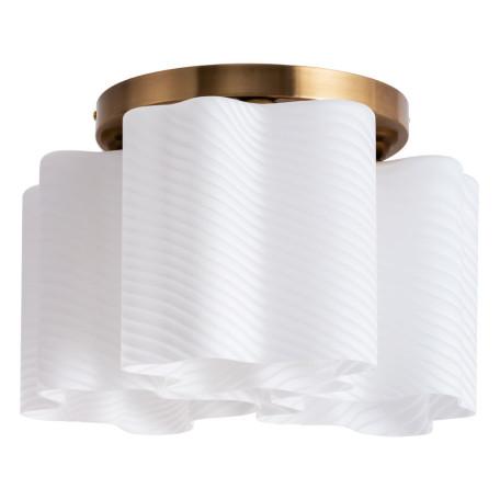 Потолочная люстра Arte Lamp Serenata A3459PL-3AB, 3xE27x40W, бронза, белый, металл, стекло