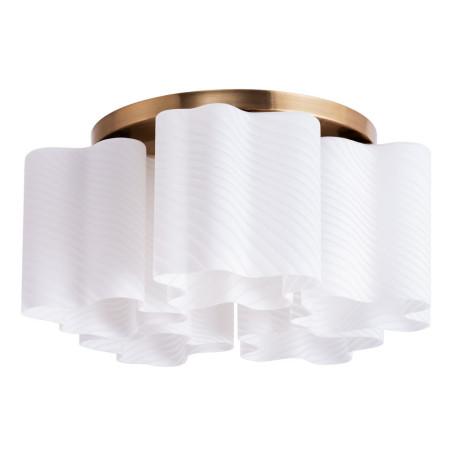 Потолочная люстра Arte Lamp Serenata A3459PL-5AB, 5xE27x40W, бронза, белый, металл, стекло