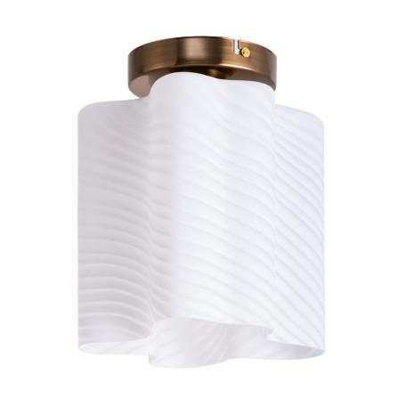 Потолочный светильник Arte Lamp Serenata A3459PL-1AB, 1xE27x40W, бронза, белый, металл, стекло