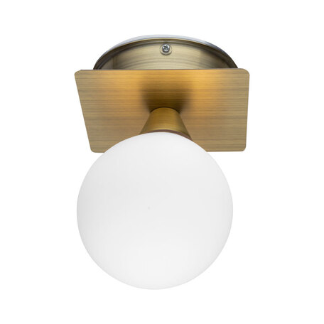 Потолочный светильник Arte Lamp Aqua-Bolla A5663AP-1AB, IP44, 1xG9x40W, бронза, белый, металл, стекло