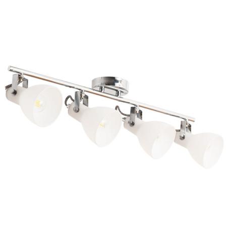 Потолочный светильник с регулировкой направления света Arte Lamp Fado A1142PL-4CC, 4xE14x40W, хром, белый, металл, стекло