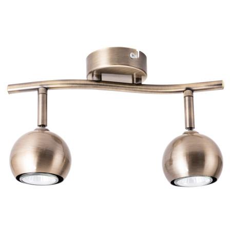 Потолочный светильник с регулировкой направления света Arte Lamp Brad A6253PL-2AB, 2xGU10x35W, бронза, металл