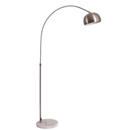 Торшер Arte Lamp Arco A8919PN-1SS, 1xE27x60W, серебро, металл, мрамор