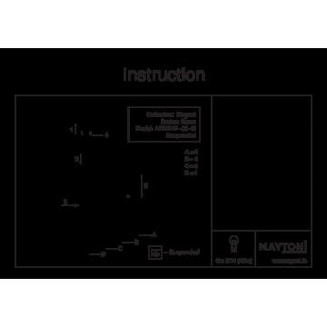Схема с размерами Maytoni ARM247-06-G