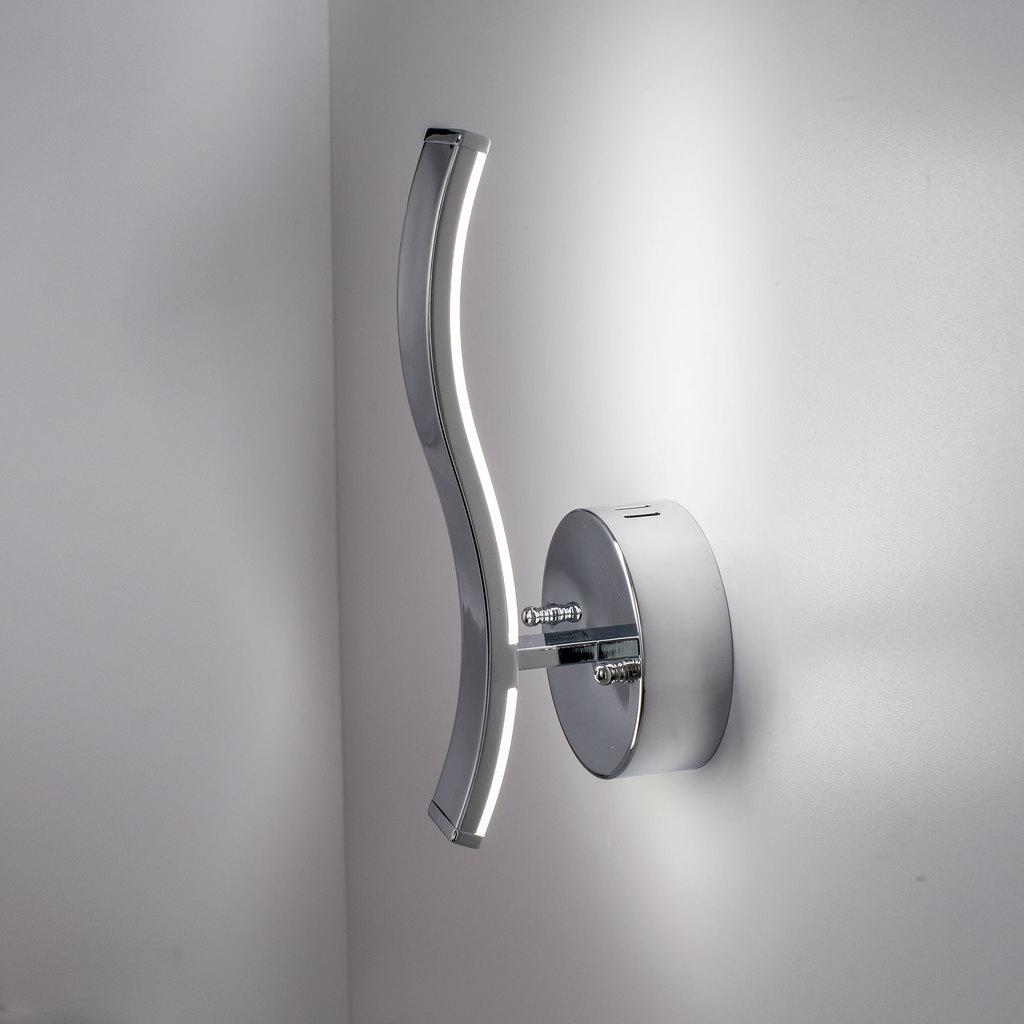 Настенный светодиодный светильник Citilux Джек CL226311 3000-3200K, хром, белый, металл, пластик - фото 4