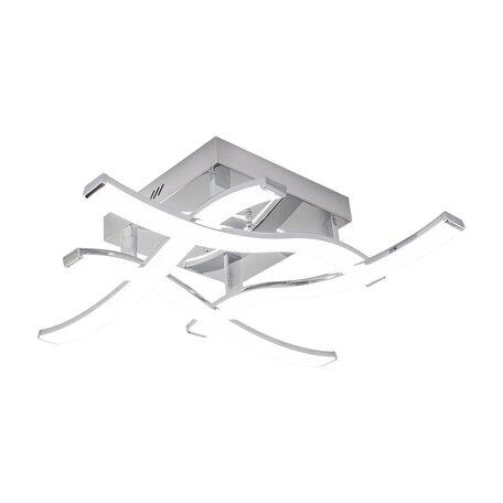 Потолочная светодиодная люстра Citilux Джек CL226121, LED 54W 3000-3200K 3900lm, хром, металл, металл с пластиком