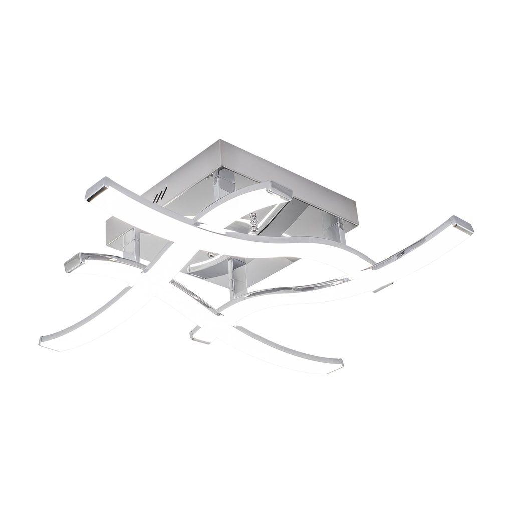 Потолочная светодиодная люстра Citilux Джек CL226121, LED 54W 3000-3200K 3900lm, хром, металл, металл с пластиком - фото 1