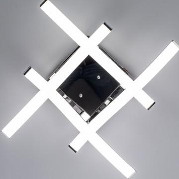 Потолочная светодиодная люстра Citilux Джек CL226121, LED 54W 3000-3200K 3900lm, хром, металл, металл с пластиком - миниатюра 10