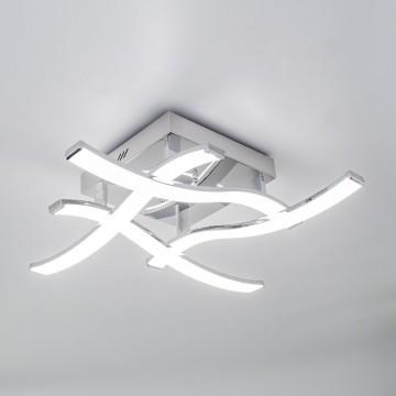 Потолочная светодиодная люстра Citilux Джек CL226121, LED 54W 3000-3200K 3900lm, хром, металл, металл с пластиком - миниатюра 3