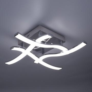 Потолочная светодиодная люстра Citilux Джек CL226121, LED 54W 3000-3200K 3900lm, хром, металл, металл с пластиком - миниатюра 4