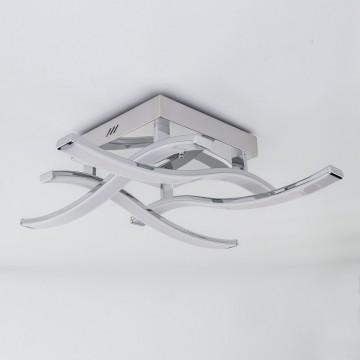 Потолочная светодиодная люстра Citilux Джек CL226121, LED 54W 3000-3200K 3900lm, хром, металл, металл с пластиком - миниатюра 7