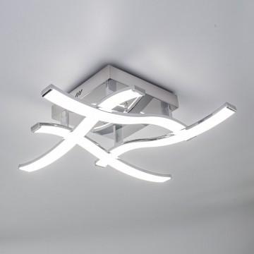 Потолочная светодиодная люстра Citilux Джек CL226121, LED 54W 3000-3200K 3900lm, хром, металл, металл с пластиком - миниатюра 8