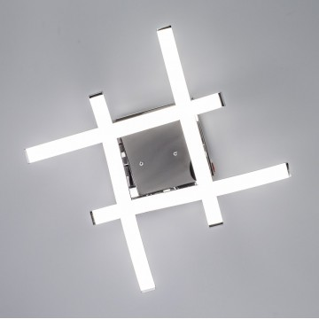 Потолочная светодиодная люстра Citilux Джек CL226121, LED 54W 3000-3200K 3900lm, хром, металл, металл с пластиком - миниатюра 9