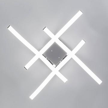 Потолочная светодиодная люстра Citilux Джек CL226131, LED 72W 3000-3200K 5590lm, хром, металл, металл с пластиком - миниатюра 10