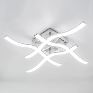 Потолочная светодиодная люстра Citilux Джек CL226131, LED 72W 3000-3200K 5590lm, хром, металл, металл с пластиком - миниатюра 3