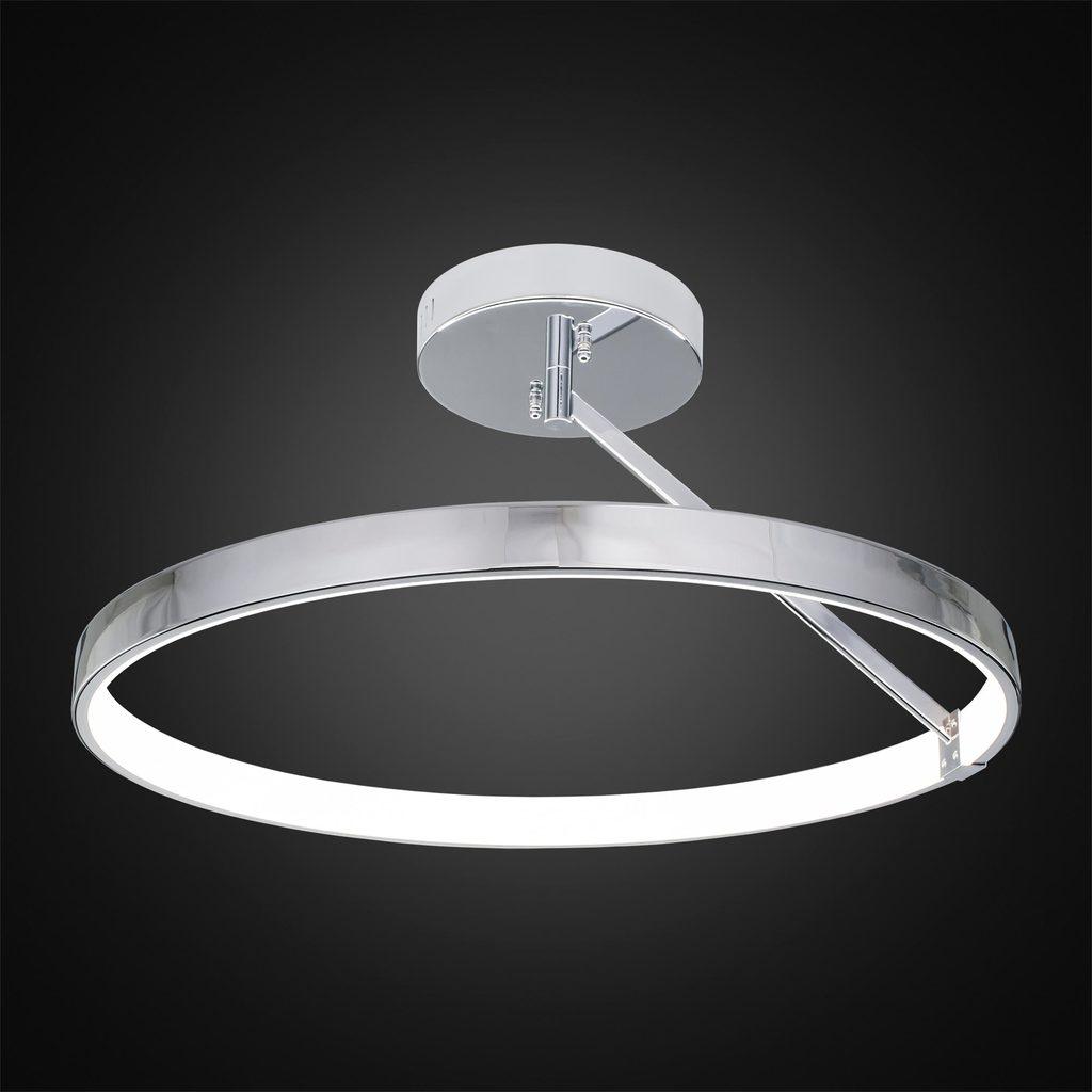 Потолочный светодиодный светильник Citilux Джек CL226221, LED 50W 3000-3200K 3250lm, хром, металл, металл с пластиком - фото 2