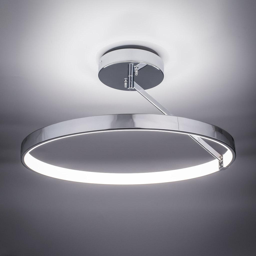 Потолочный светодиодный светильник Citilux Джек CL226221, LED 50W 3000-3200K 3250lm, хром, металл, металл с пластиком - фото 5