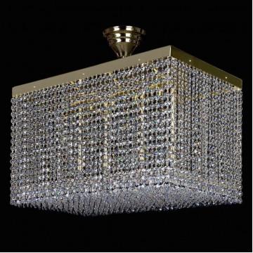 Потолочная люстра Artglass LEANDRA 350x600 CE, 10xG9x35W, золото, прозрачный, металл, хрусталь Artglass Crystal Exclusive