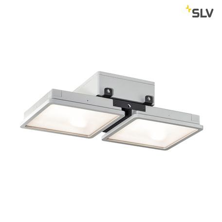 Потолочно-подвесной светодиодный светильник SLV ALMINO DOUBLE 1002193, IP65, LED 4000K, серый