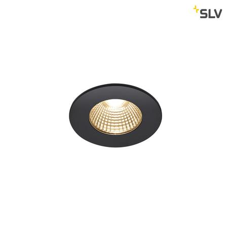 Встраиваемый светодиодный светильник SLV PATTA-I ROUND DtW 1002098, IP65, LED 1800-3000K, черный, металл