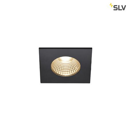 Встраиваемый светодиодный светильник SLV PATTA-I SQUARE DtW 1002101, IP65, LED 1800-3000K, черный, металл
