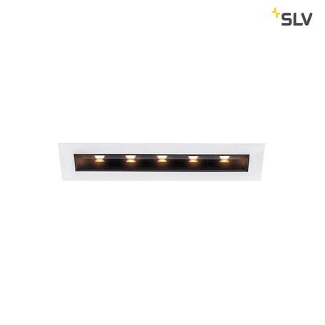 Встраиваемый светодиодный светильник SLV MILANDO M 1002105, LED 3000K, белый, черно-белый, металл