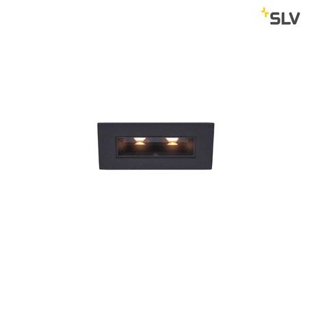 Встраиваемый светодиодный светильник SLV MILANDO S 1002107, LED 3000K, черный, металл