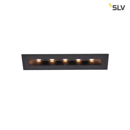 Встраиваемый светодиодный светильник SLV MILANDO M 1002108, LED 3000K, черный, металл