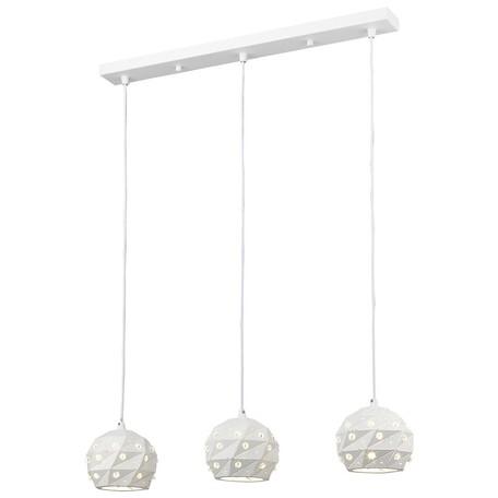 Подвесной светильник Wertmark Delfina WE263.03.006, 3xE27x60W, белый, металл, металл с хрусталем
