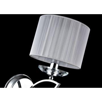Бра Maytoni Miraggio MOD602-01-N, 1xE14x40W, хром, белый, прозрачный, металл со стеклом, текстиль, стекло - миниатюра 6
