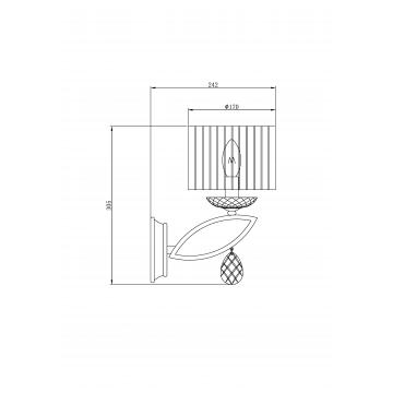 Схема с размерами Maytoni MOD602-01-N