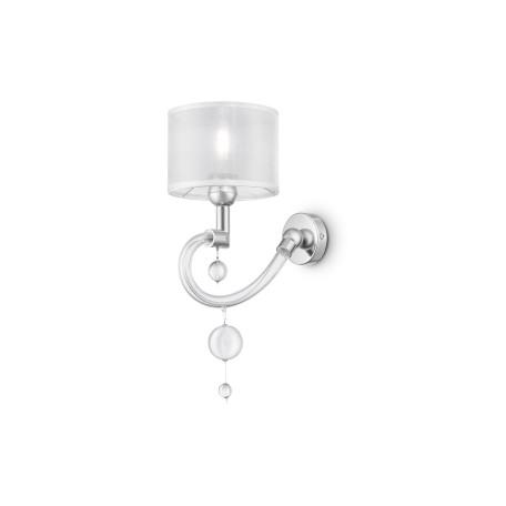 Бра Maytoni Bubble Dreams MOD603-01-N, 1xE14x40W, прозрачный, хром, металл, стекло, текстиль - миниатюра 1