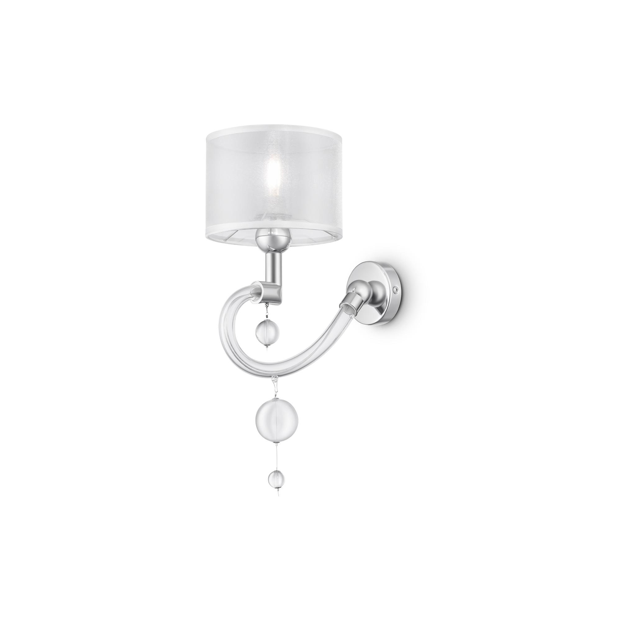 Бра Maytoni Bubble Dreams MOD603-01-N, 1xE14x40W, прозрачный, хром, металл, стекло, текстиль - фото 1