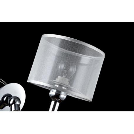 Бра Maytoni Bubble Dreams MOD603-01-N, 1xE14x40W, прозрачный, хром, металл, стекло, текстиль - миниатюра 4