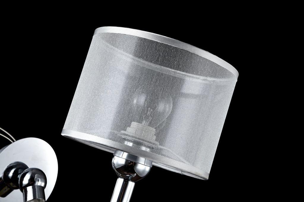 Бра Maytoni Bubble Dreams MOD603-01-N, 1xE14x40W, прозрачный, хром, металл, стекло, текстиль - фото 4