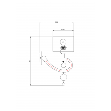 Схема с размерами Maytoni MOD603-01-N