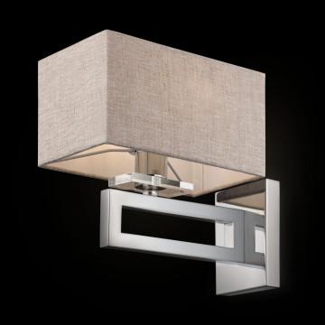 Бра Maytoni Neoclassic Megapolis MOD906-01-N, 1xE14x40W, хром, серый, металл, текстиль - миниатюра 2