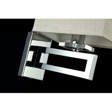 Бра Maytoni Neoclassic Megapolis MOD906-01-N, 1xE14x40W, хром, серый, металл, текстиль - миниатюра 3