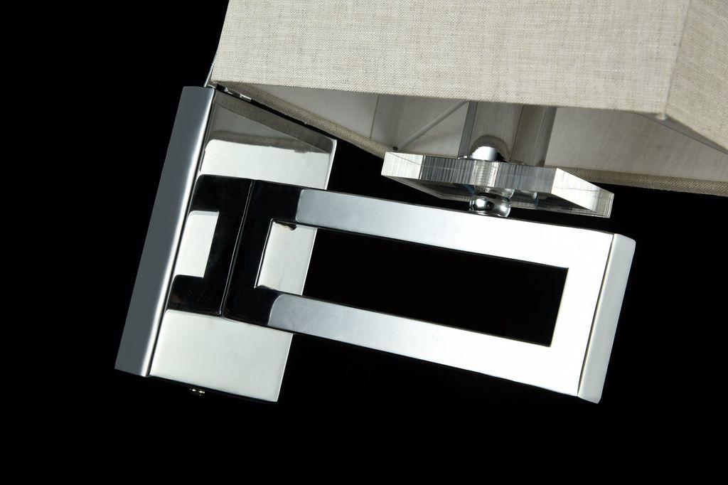 Бра Maytoni Neoclassic Megapolis MOD906-01-N, 1xE14x40W, хром, серый, металл, текстиль - фото 3
