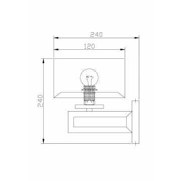 Схема с размерами Maytoni MOD906-01-N