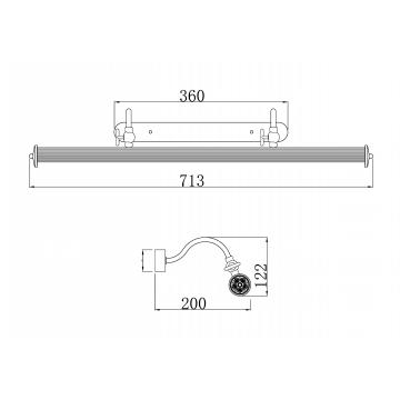 Схема с размерами Maytoni PIC119-44-G