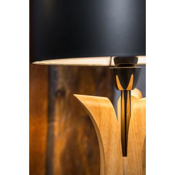 Настольная лампа Maytoni Brava lampada MOD239-01-B, 1xE14x40W, коричневый, никель, черный, дерево, металл - миниатюра 5